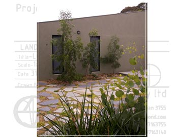 Garden has rooms filled with indigenous plants, natural granitic sand and slate